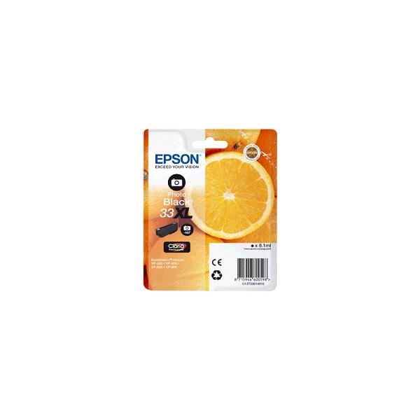 Cartouche Origine EPSON - Noir Photo - T3361 XL - C13T33614012