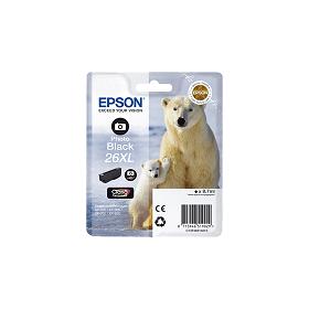 Cartouche d'encre EPSON 26XL Noir Photo  haute capacité