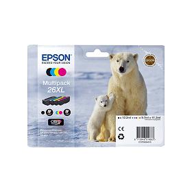 Cartouche d'encre EPSON 26XL  Pack 4 couleurs  haute capacité