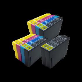 Compatible Epson 16XL T1636 Cartouches d'encre Grande Capacité Lot de 10