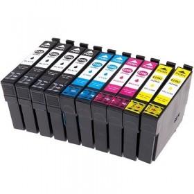 cartouches encre compatibles Epson T2996 - pack de 10 - Noir et Couleurs