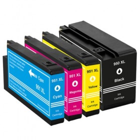 HP 950XL  HP 951XL   cartouches d'encre compatibles - Lot de 4