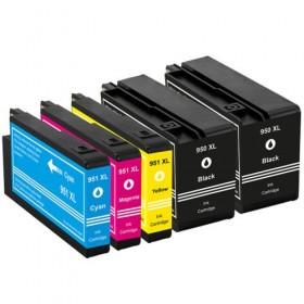 HP 950XL 951XL  cartouches d'encre compatibles - Lot de 5