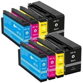 HP 950XL  951XL  cartouches d'encre compatibles - Lot de 8