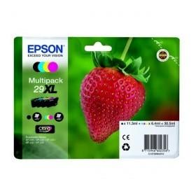 Pack Cartouches encre Origine EPSON - 4 Couleurs - T29 XL - Grande Capacité