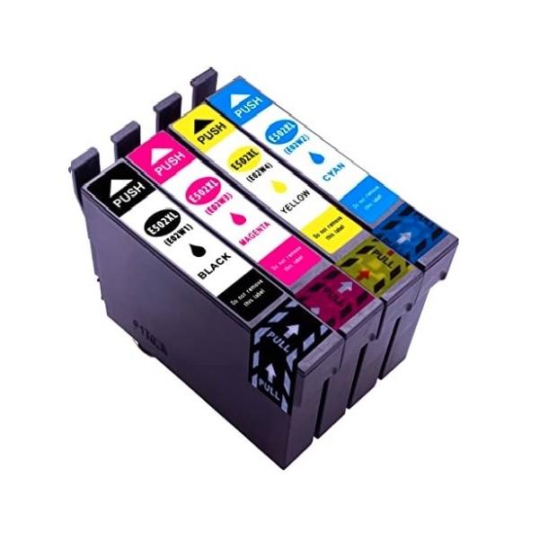 Pack Cartouches d'encre compatible Epson 502 XL Noir - Couleurs