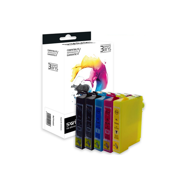 Epson T1816XL, 18XL  Pack de 4 cartouches encre Marque SWITCH