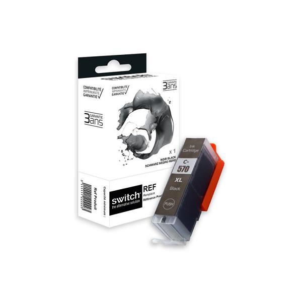 Cartouche Compatible CANON  Noir  PGI-570 BK XL - Marque SWITCH