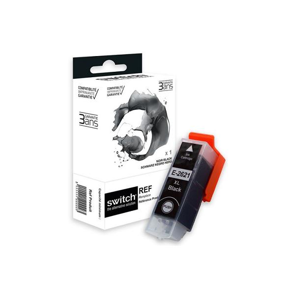 Cartouche d'encre compatible EPSON 26XL Noir Marque Switch haute capacité