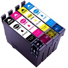 Pack Cartouches d'encre compatible Epson WF-2860 WF-2865 DWF - XL Noir - Couleurs (1x18.2ml + 3x14ml)