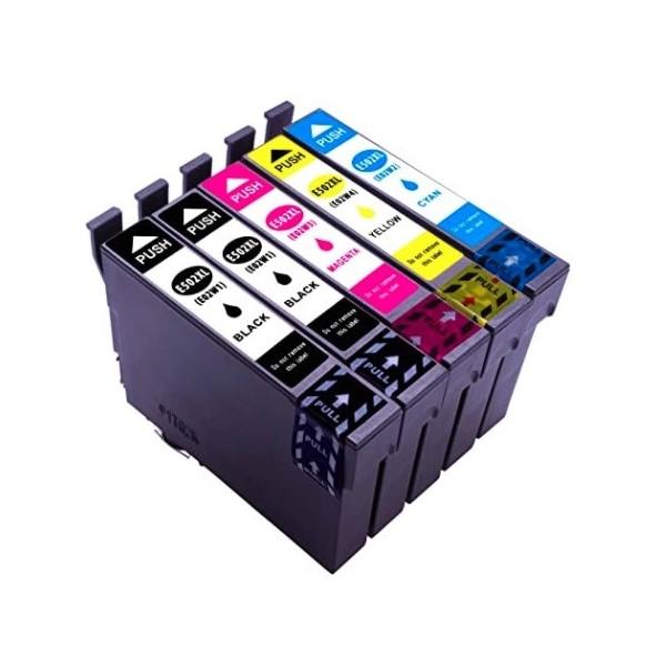 Pack Cartouches d'encre compatible Epson 502 XL Noir - Couleurs (1x18.2ml + 3x14ml)