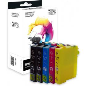 Pack 5 Cartouche d'encre compatible Epson WF-2860 WF-2865 DWF - XL - Noir et Couleurs - Marque Switch