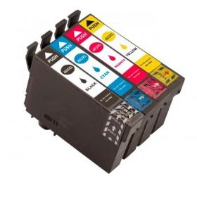 Epson Workforce WF-2810 WF-2830 WF-2835 WF-2850 cartouche d'encre Noir Couleur ( 1x18ml + 3x14ml)